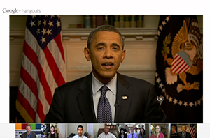 Obama-using-Google-Hangouts