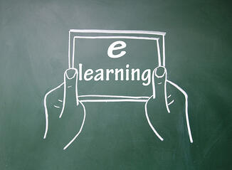 e-learning title and Tablet PC