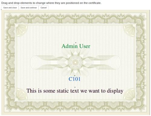 Moodle Plugin - Custom certificate