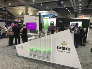 totara lms booth at atd 2018